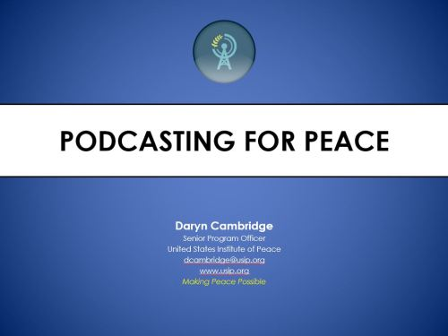 Podcasting for Peace